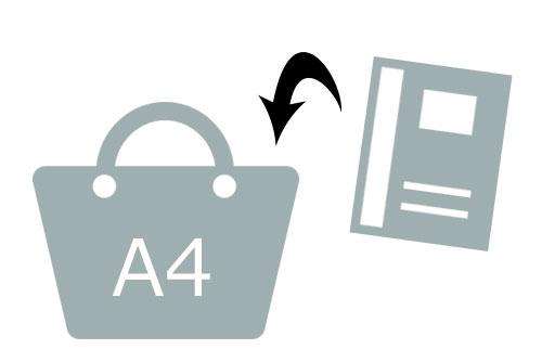 レディーストートバッグを選ぶ時はA4が入るか確認して