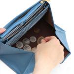 カードがすっきり収納できる小銭が見やすく取り出しやすい長財布